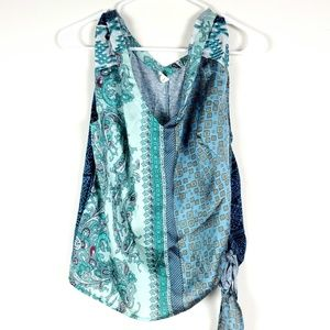 TINY Anthropologie Paisley Brocade Tie Blouse M